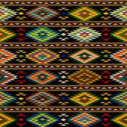american indian seamless pattern - stock illustration