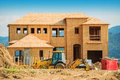 New house building. house construction. Stock Photos