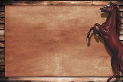 wild horse copy space design. - stock illustration