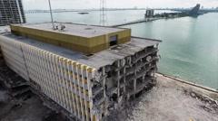 Miami Herald Building Demolition Stock Footage