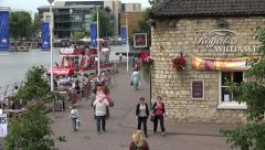 Visitors at brayford pool, lincoln, england Stock Footage
