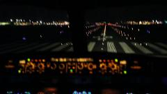 Full take off sequence with view inside cockpit Stock Footage