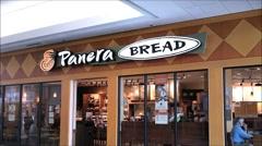 Panera Bread mall entrance Stock Footage