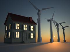 alternative energy - stock illustration