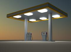 gas station - stock illustration