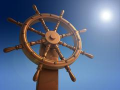 ship wheel - stock illustration