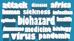 Biohazard caution hiv Stock Footage