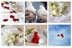 Different wedding simbols Stock Photos