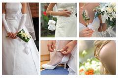 bride body parts - stock photo