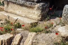 Monumental tomb in the necropolis Stock Photos