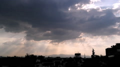 Clouds Over Mexico City Time Lapse - stock footage