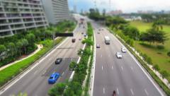 Moving vehicles in the highway Stock Footage