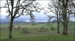 Oregon spring landscape with dark sky 4k Stock Footage