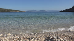 Greece Coastline in Lefkada Beach, Seascape in Summer, Coastline View by Day Stock Footage