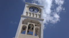 Clock Tower Bell of an Orthodox Church, View of a Clocktower Monastery Stock Footage