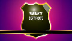 Warranty Certificate. Security, Warranty. Safety. Advertising - stock footage