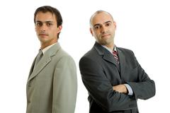 Two business men isolated on white background Stock Photos