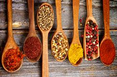 Spicy spices Stock Photos