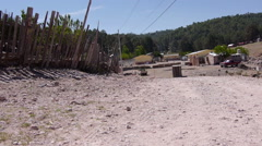 Copper Canyon small village Stock Footage