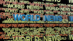World news title - stock footage