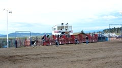 Rodeo in west USA Stock Footage