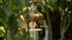 Buddhistic house shrine - silent focus shot - stock footage