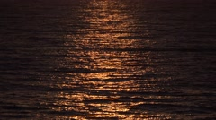 Ultra HD 4K Sunset on Ocean, View Sea Waves, Exotic Beach in Dusk, Sea Landscape Stock Footage