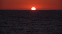 4K Sunset on Ocean, View Sea Waves, Exotic Beach in Dusk, Seascape Landscape Stock Footage