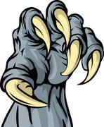 monster animal claw - stock illustration