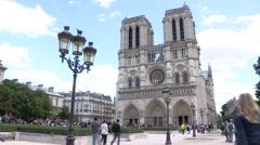 Paris Notre Dame Stock Footage
