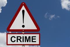 Stock Illustration of crime caution sign