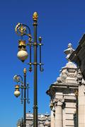 beautiful lanterns in madrid, spain - stock photo