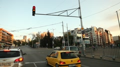 City Road Journey Verna Bulgaria Stock Footage