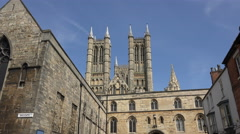 Cathedral, castle square, lincoln, england Stock Footage