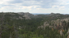 Panoramic shot of Black Hills on overcast day - stock footage