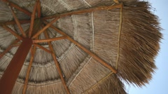 Palapa Background Stock Footage