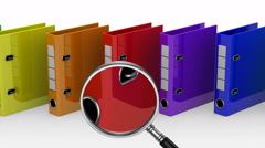 Colored Ring Binders Stock Footage