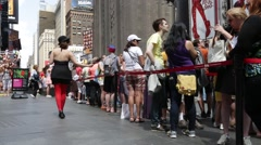 NYC B Roll - Times Square TKTS line 1 - stock footage