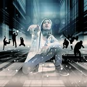 Street Dance,Dramatic Look Stock Illustration