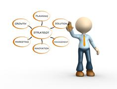 Conceptual image of strategy Stock Illustration