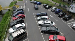 Parking lot. Cochem (Mosel River, Germany) Stock Footage