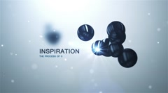 Stock After Effects of Inspirational Titles Logo Intro