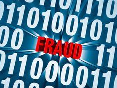 Stock Illustration of cyber fraud hidden in computer code