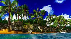 Stock Illustration of Paradise on Hawaii Island