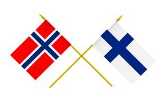 Stock Illustration of flags, finland and norway