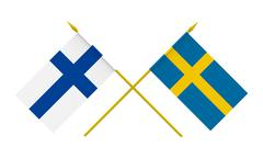 Stock Illustration of flags, finland and sweden