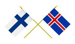 Stock Illustration of flags, finland and iceland