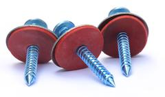 Screw with washer Stock Photos