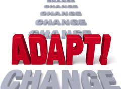 Stock Illustration of adapt to stand up to change