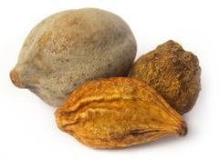 triphala, a combination of ayurvedic fruits - stock photo